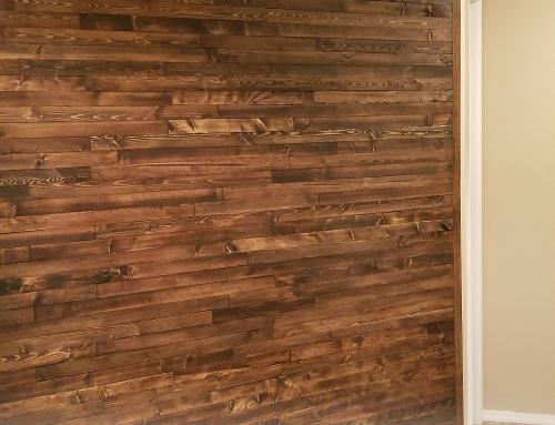 DIY Wood Lath Wall